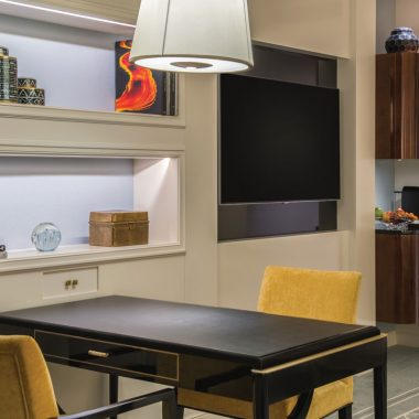 A table for two in the living area of the suite is great for dining